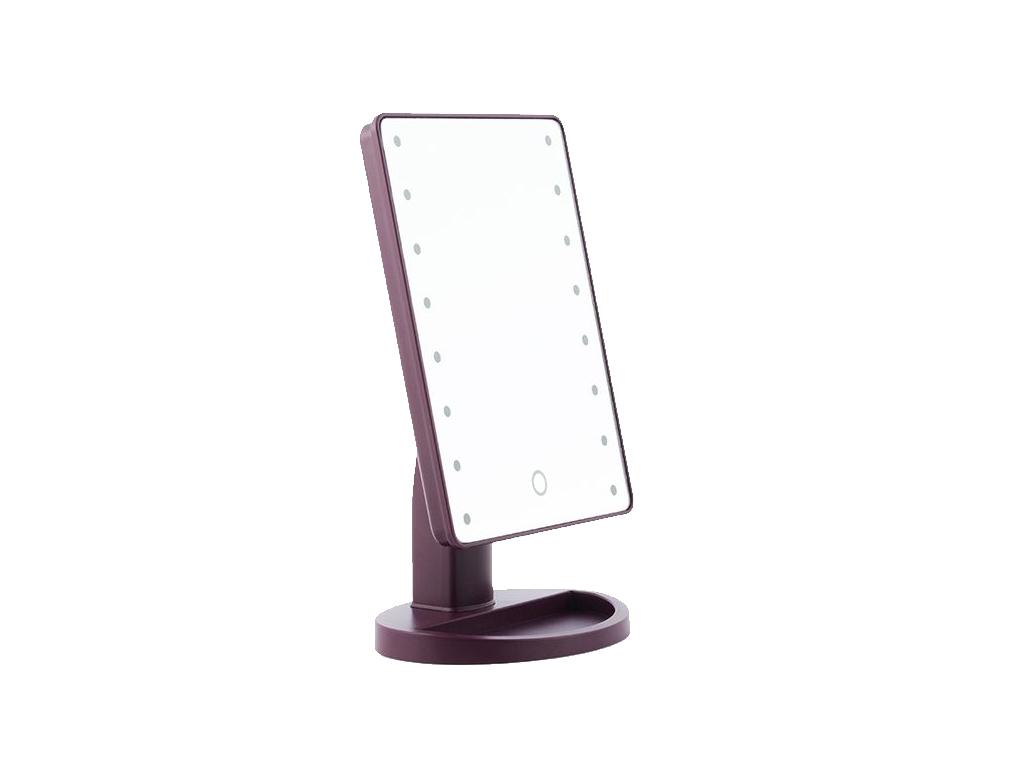 PRETTY U Καθρέπτης Μακιγιάζ με 16 LED φώτα, κουμπί αφής και δυνατότητα περιστροφ υγεία και ομορφιά   καθρέφτες