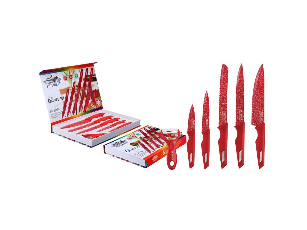 Σετ 6 μαχαιριών Peterhof 5 μαχαίρια για όλες τις χρήσεις και 1 αποφλοιωτής λαχαν σερβίρισμα   μαχαιροπίρουνα