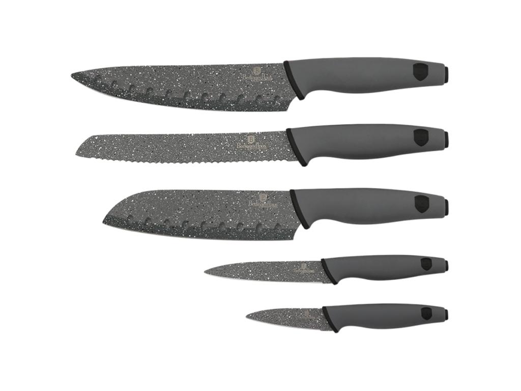 Berlinger Haus Σετ Αντιβακτηριδιακών Αντικολλητικών Μαχαιριών 5 τεμ. από Ανοξείδ αξεσουάρ και εργαλεία κουζίνας   μαχαίρια κουζίνας