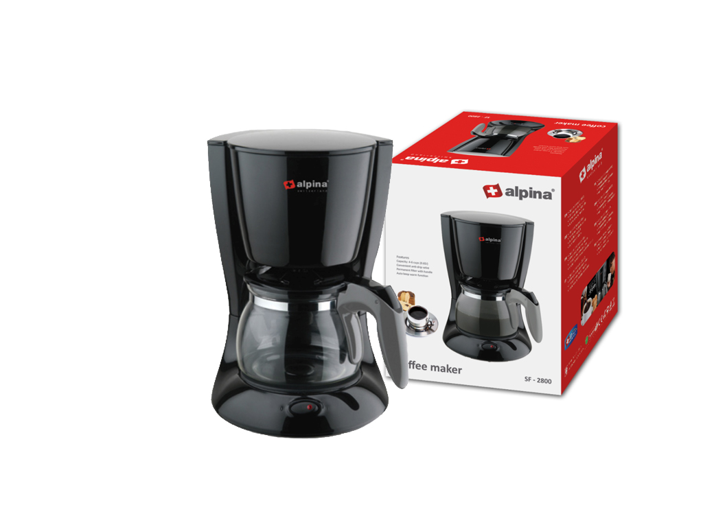 Alpina Switzerland Καφετιέρα Φίλτρου Γαλλικού Καφέ 600W χωρητικότητας 650ml για  ηλεκτρικές οικιακές συσκευές   καφετιέρες και είδη καφέ