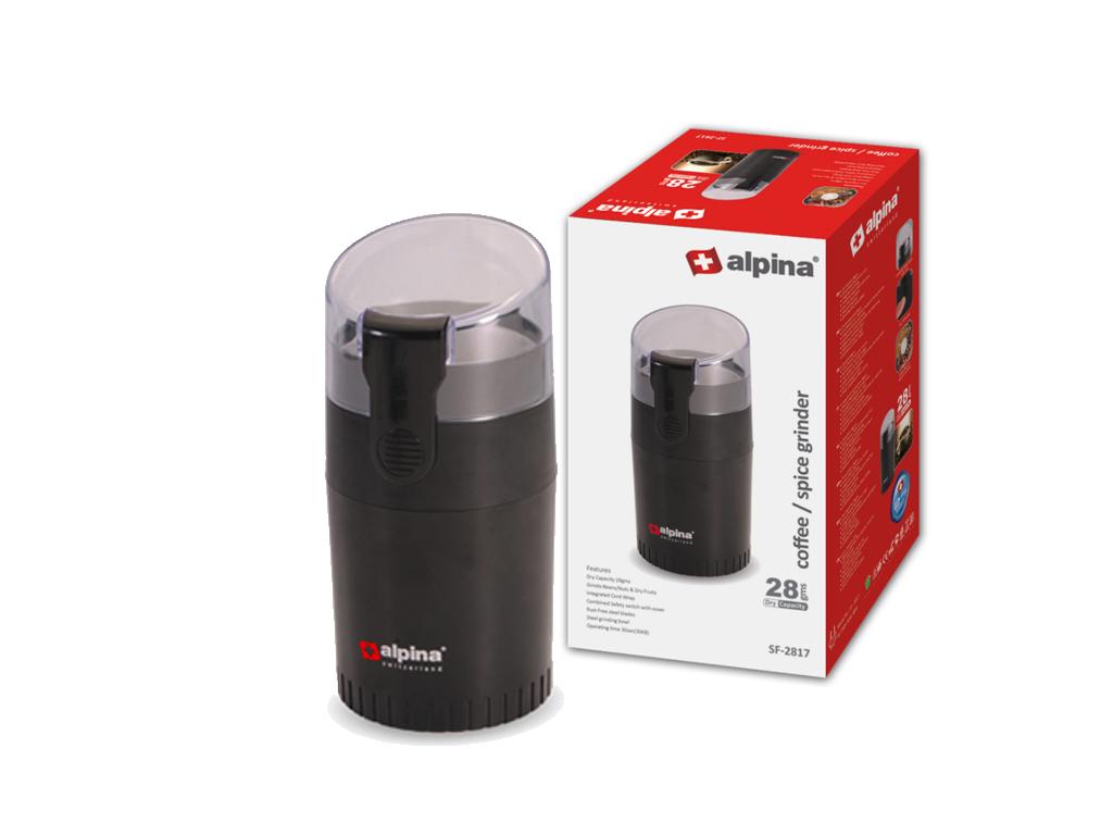 Alpina Switzerland Ηλεκτρικός Μύλος Άλεσης Καφέ και Ξηρών Καρπών 90W σε Μαύρο χρ ηλεκτρικές οικιακές συσκευές   μύλοι άλεσης