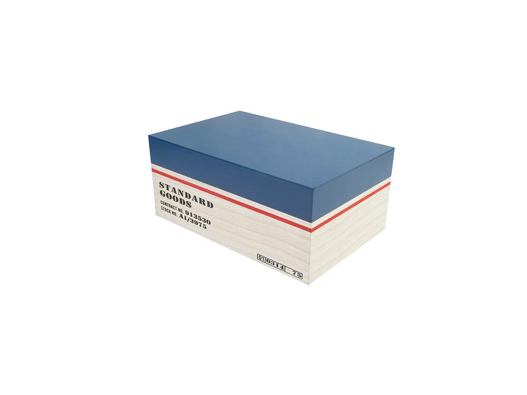Arti Casa Ξύλινο Κουτί Αποθήκευσης 23x15x10cm με Ανοιγόμενο καπάκι σε Φυσικό χρώ έπιπλα   μπαούλα και κουτιά αποθήκευσης