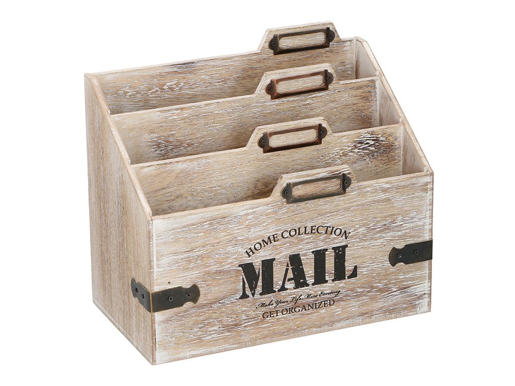 Arti Casa Ξύλινο Διακοσμητικό Κουτί Αποθήκευσης Vintage Style Οργανωτής Καρτών,  οργάνωση σπιτιού   γραμματοκιβώτια