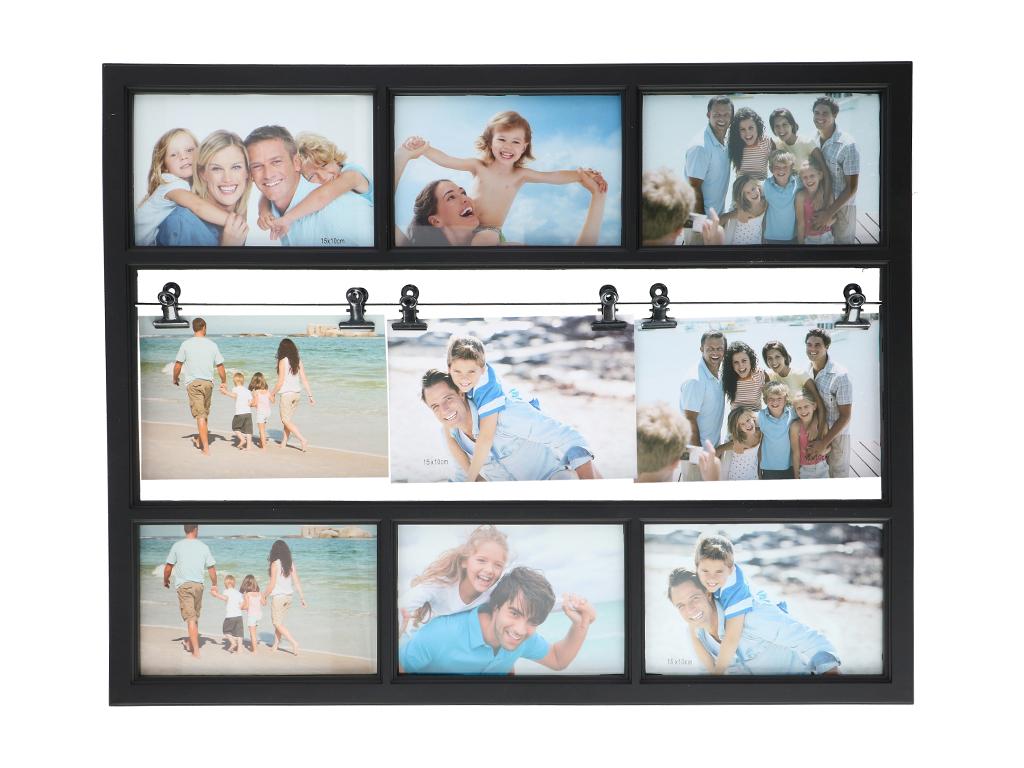 Arti Casa Μοντέρνα Σύνθεση με Κορνίζες 47.5x38x2cm για 6 φωτογραφίες με 6 Μανταλ διακόσμηση και φωτισμός   κορνίζες φωτογραφιών