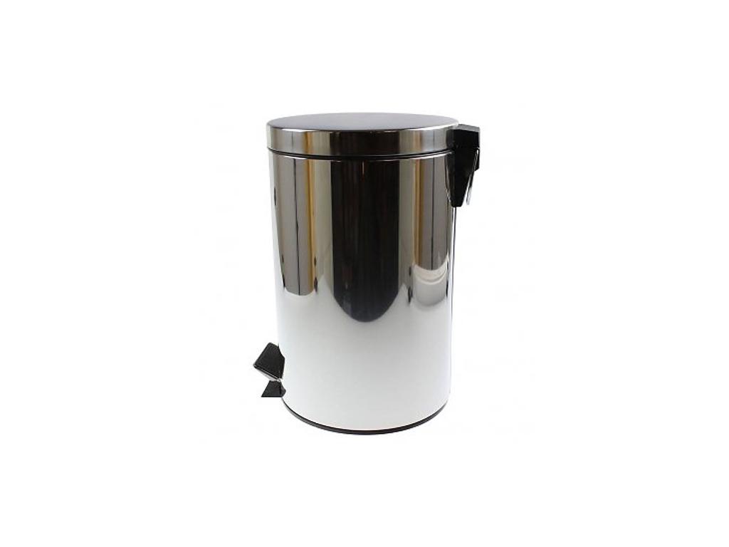 Κάδος Απορριμάτων 12 λίτρων με Πεντάλ από Ανοξείδωτοι ατσάλι, Ιδανικός για Μπάνιο και Κουζίνα, 25x25x40cm, 95521 – Cb