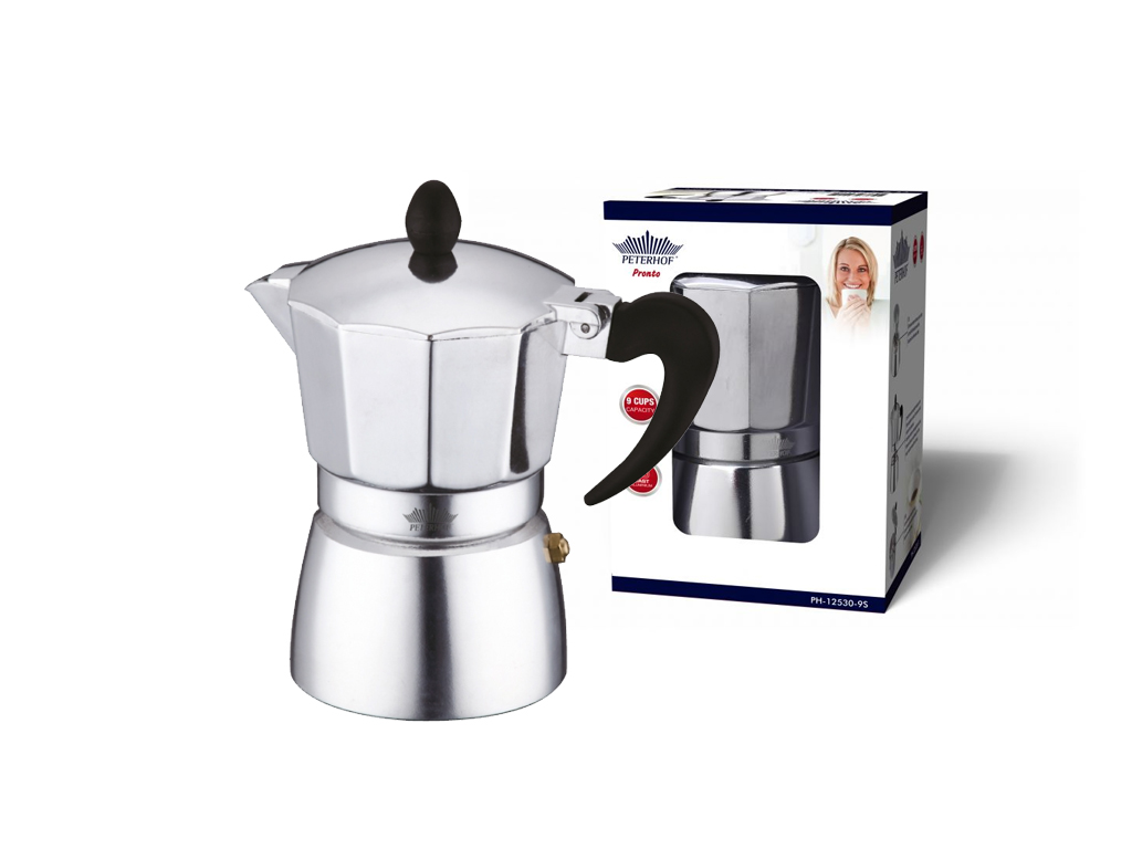 Peterhof Καφετιέρα Μπρίκι Espresso 810ml για 9 φλυτζάνια από Ανοξείδωτο ατσάλι,  ηλεκτρικές οικιακές συσκευές   καφετιέρες και είδη καφέ
