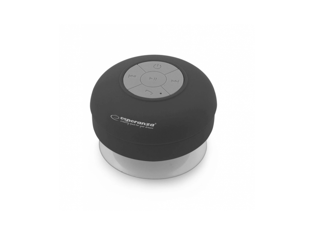 Esperanza Mini Αδιάβροχο Φορητό Ηχείο Bluetooth 3W Βεντούζα σε Μαύρο χρώμα, EP12 ήχος   bluetooth και μικρά ηχεία