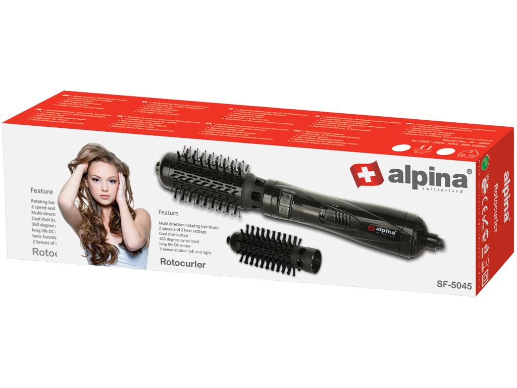 Σίδερα μαλλιών για Μπούκλες- Alpina switzerland Ηλεκτρική Περιστρεφόμενη Βούρτσα  Μαλλιών για Τέλειες Μπούκλες 1000W με 3 Eπίπεδα Θερμοκρασίας σε Μαύρο χρώμα  ... dfff443a8f2