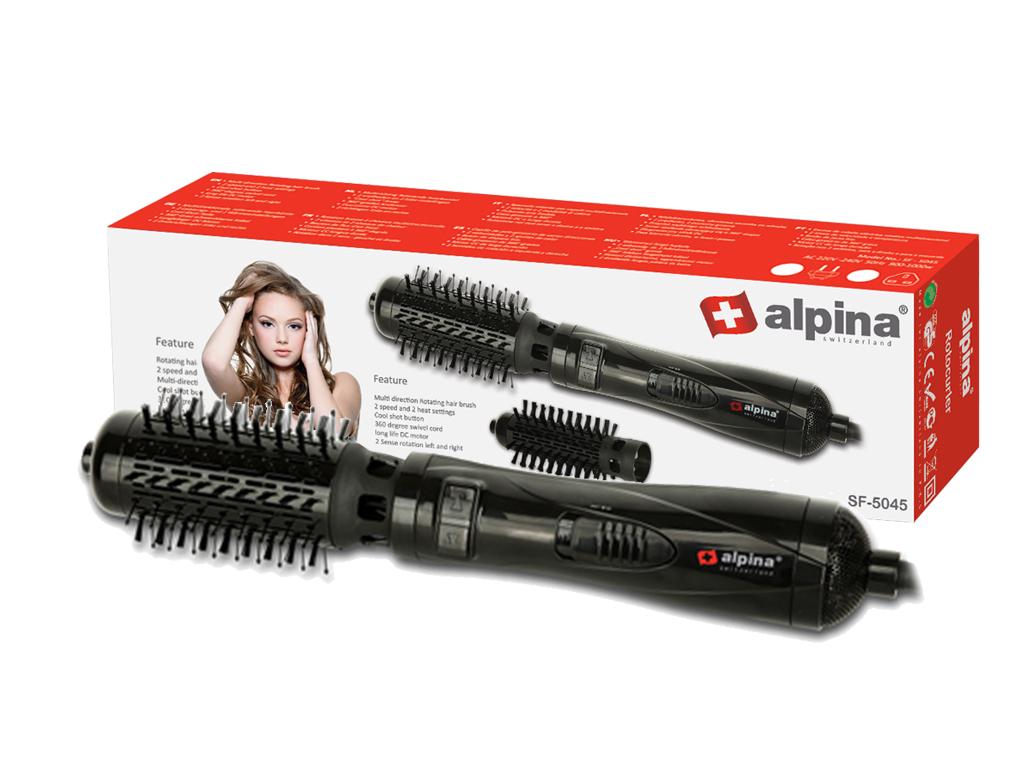 Alpina switzerland Ηλεκτρική Περιστρεφόμενη Βούρτσα Μαλλιών για Τέλειες Μπούκλες κομμωτική   σίδερα μαλλιών για μπούκλες