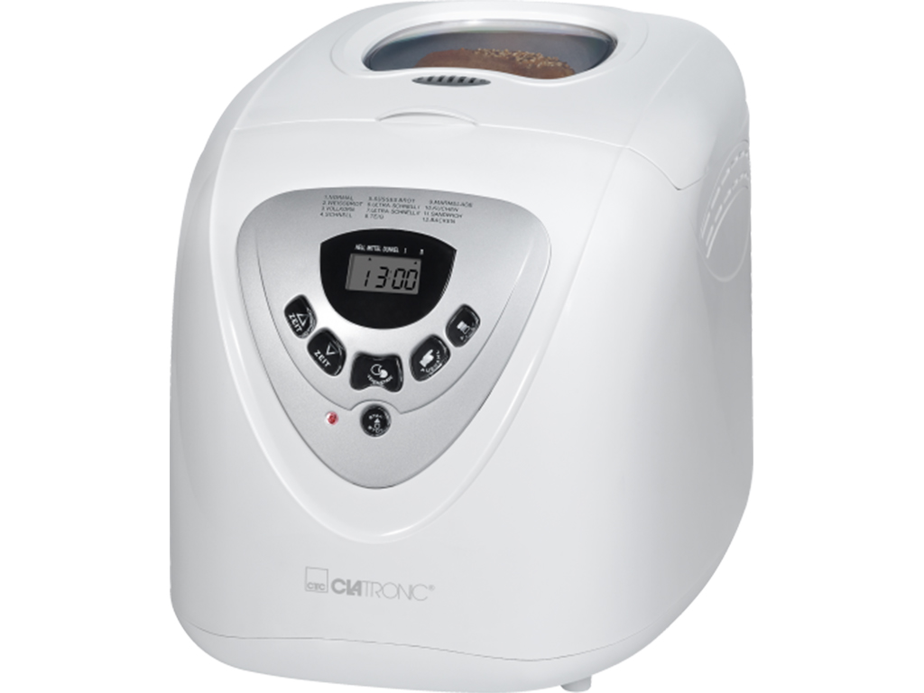 Clatronic Αυτόματος Αρτοπαρασκευαστής 600W χωρητικότητας 2Lt με 12 Προγράμματα σ ηλεκτρικές οικιακές συσκευές   αρτοπαρασκευαστές