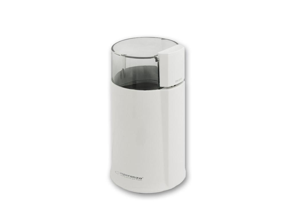 Esperanza Ηλεκτρικός Μύλος Άλεσης Καφέ και Μπαχαρικών 120W σε Λευκό χρώμα, EKC00 ηλεκτρικές οικιακές συσκευές   μύλοι άλεσης