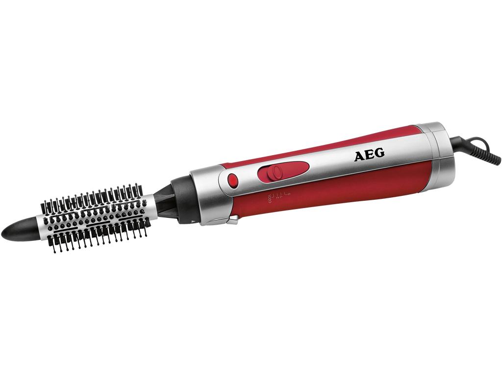 AEG Ηλεκτρική Βούρτσα Φορμαρίσματος Μαλλιών 600W με 2 κεφαλές σε Κόκκινο χρώμα,  κομμωτική   σίδερα μαλλιών για μπούκλες