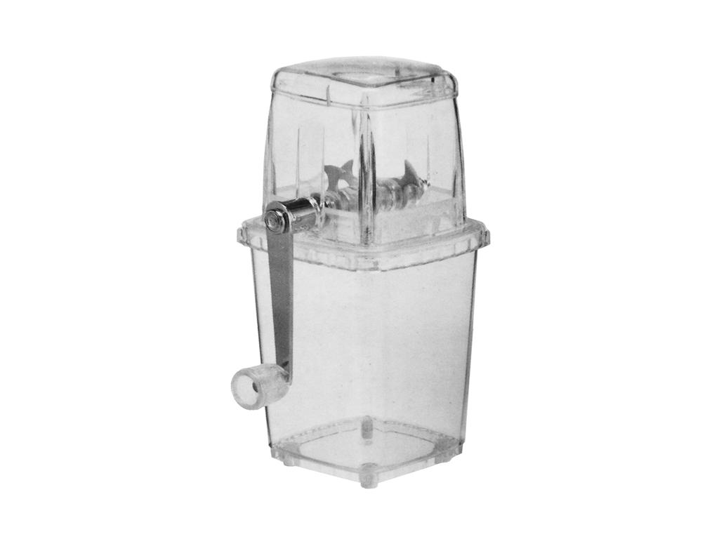 Διάφανος Χειροκίνητος Παγοθραύστης Θρυμματιστής Πάγου Ice Crusher 14x11x23cm με  ηλεκτρικές οικιακές συσκευές   θρυμματιστές πάγου   παρασκευαστές κοκτέιλ
