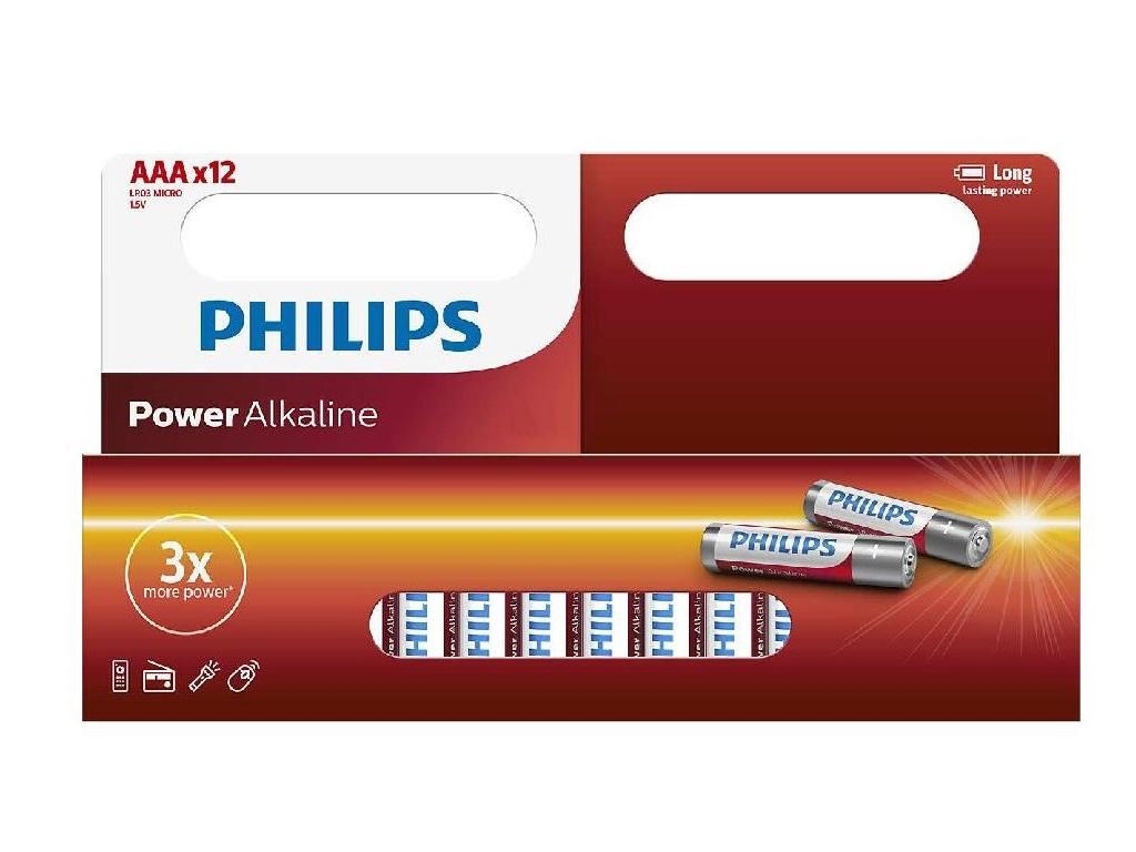 Philips Αλκαλικές Μπαταρίες 12τεμ. ΑΑA, LR03P12W/10 - Philips τεχνολογία   μπαταρίες
