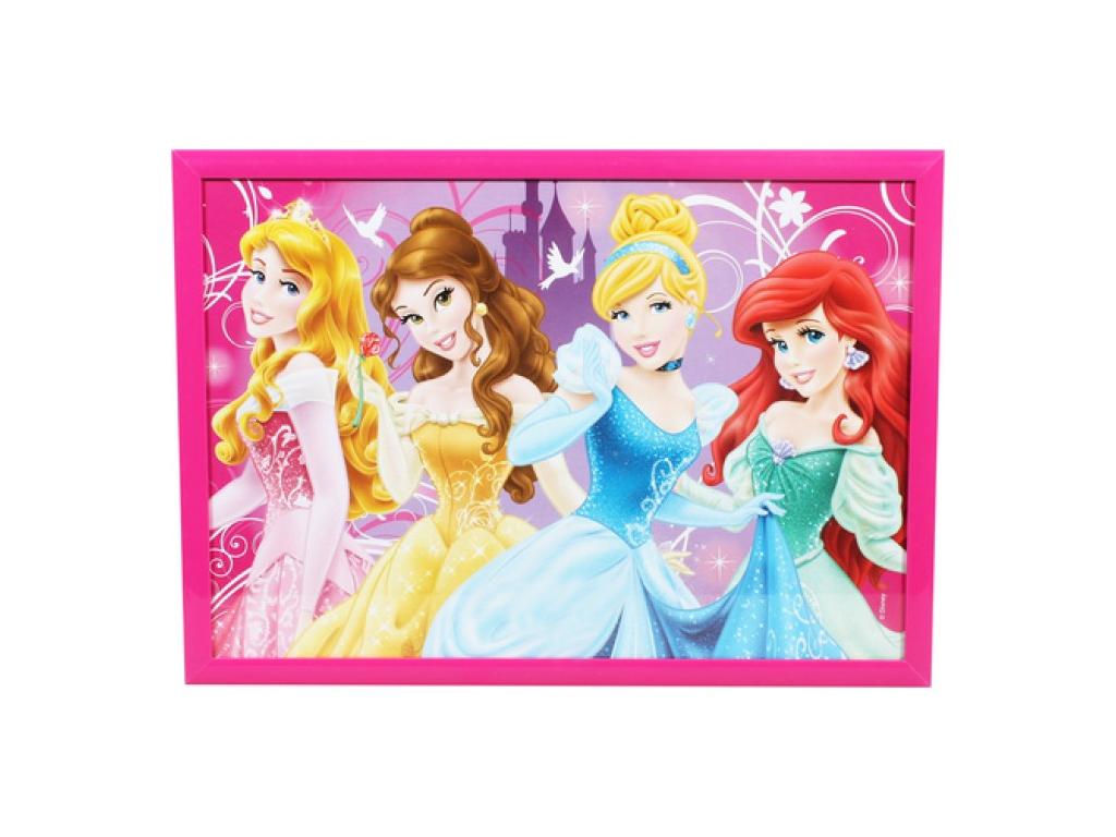 Disney Παιδική Παραλληλόγραμμη Κορνίζα 21x29.7cm Α4 σε Απλή Μοντέρνα γραμμή με θέμα Princesses και Φούξια χρώμα πλαίσιο, 53431 - Disney