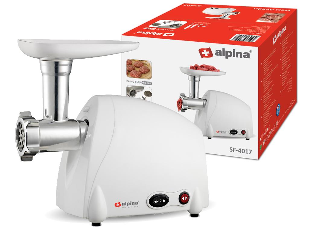 Alpina Switzerland Κουζινομηχανή Κρεατομηχανή Μηχανή κοπής κιμά 300 Watt με 3 Δί ηλεκτρικές οικιακές συσκευές   κρεατομηχανές