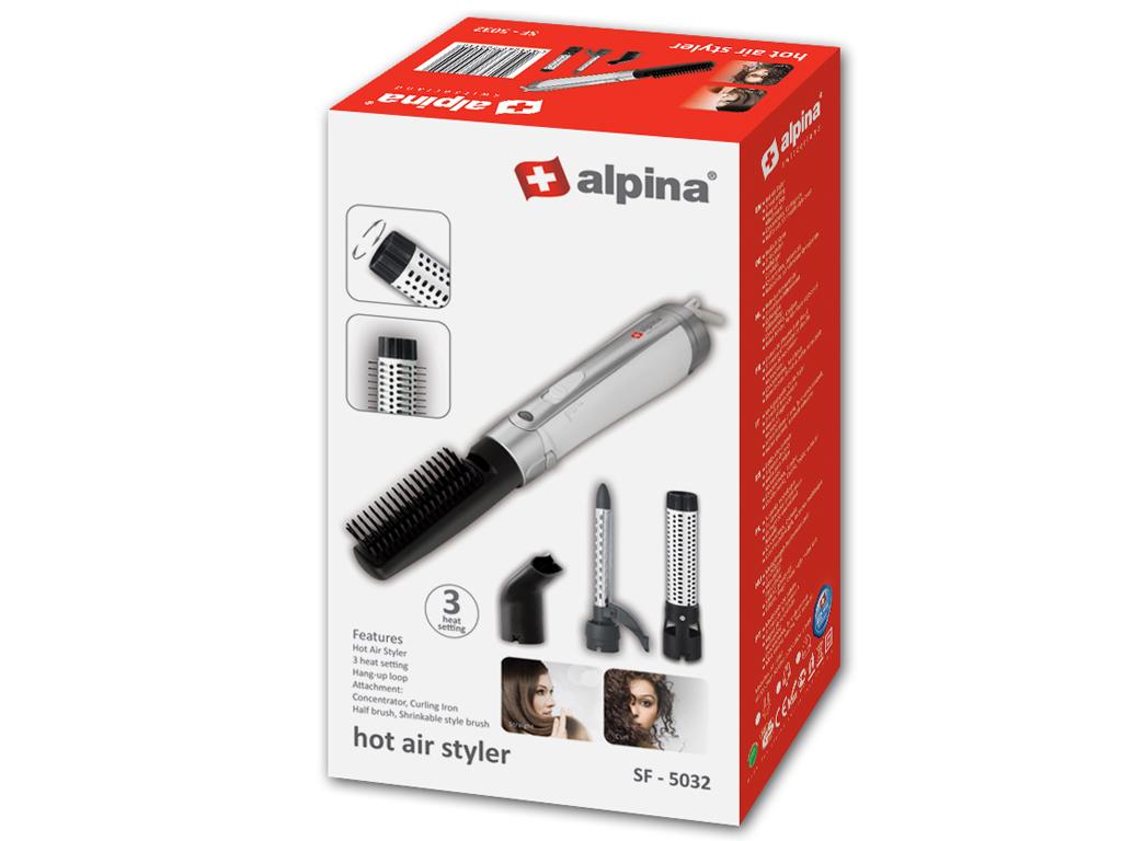 Σίδερα μαλλιών για Μπούκλες- Alpina switzerland Πανίσχυρη Ηλεκτρική Βούρτσα  Φορμαρίσματος Μαλλιών 1200W με 3 αξεσουάρ για Μπούκλες και Κυματιστά Μαλλιά  σε ... 8e072577c64