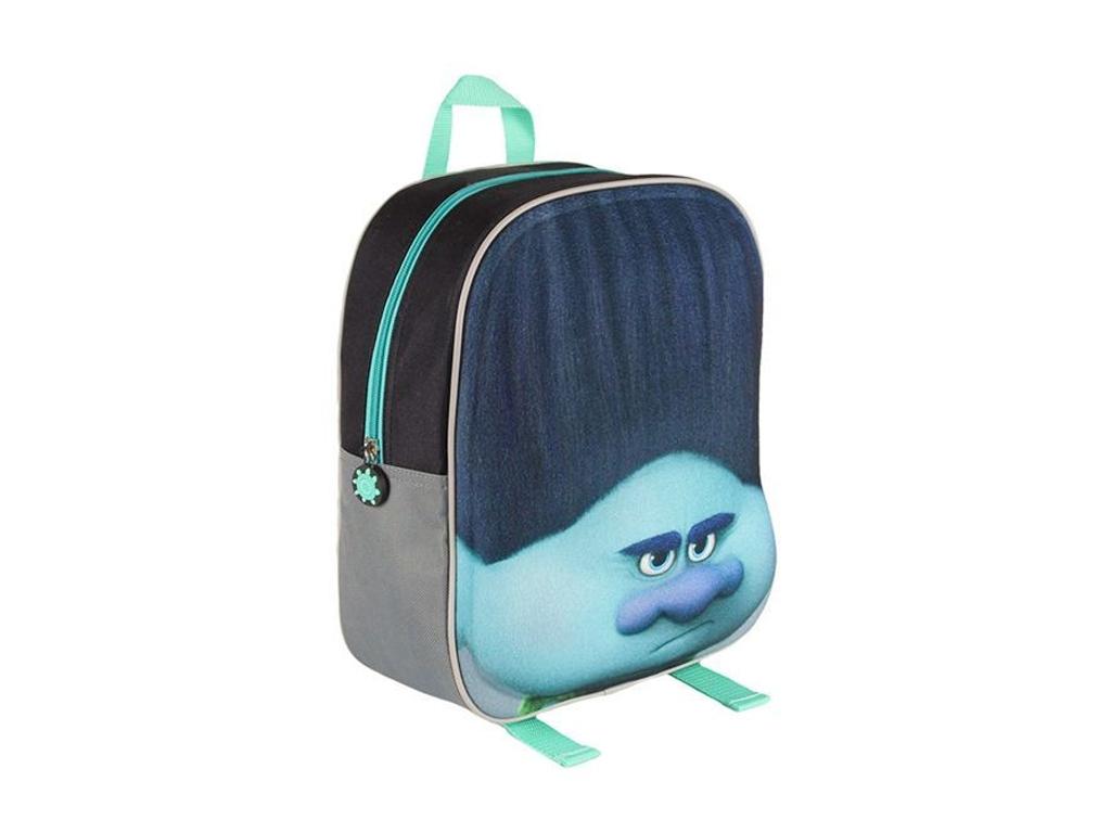 Σχολική Τσάντα 3D TROLLS με φερμουάρ και ρυθμιζόμενους ιμάντες, V1300300 - Cb σχολικά είδη   σχολικές τσάντες