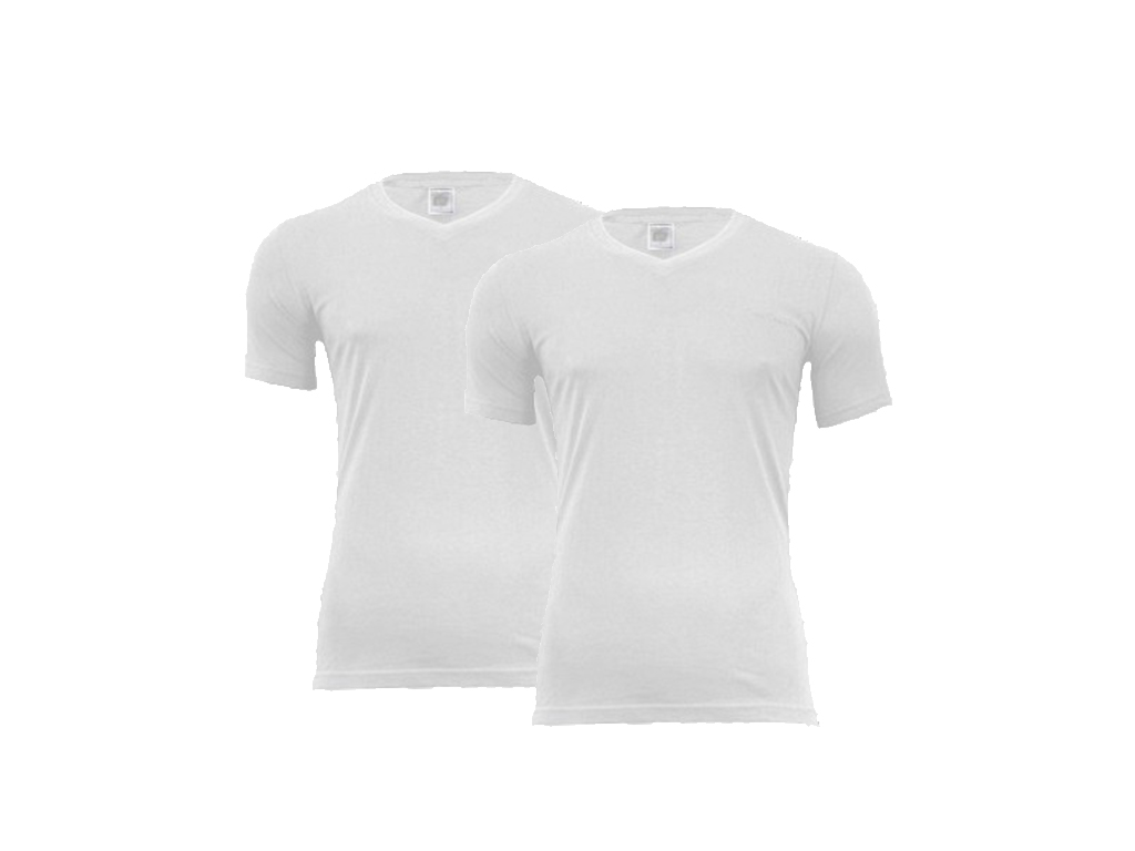 Pierre Cardin Ανδρικό μπλουζάκι T-Shirt Τύπου V σε Λευκό χρώμα Σετ των 2 τεμαχίω ανδρική ένδυση   ανδρικές μπλούζες