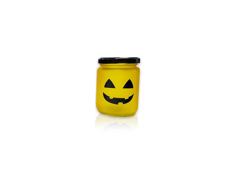 ArtiCasa Led Tealight Halloween Μίνι Γυάλινο Φωτιστικό Βαζάκι LED 6.5x6.5x9cm ,  εποχιακά   αποκριάτικα είδη