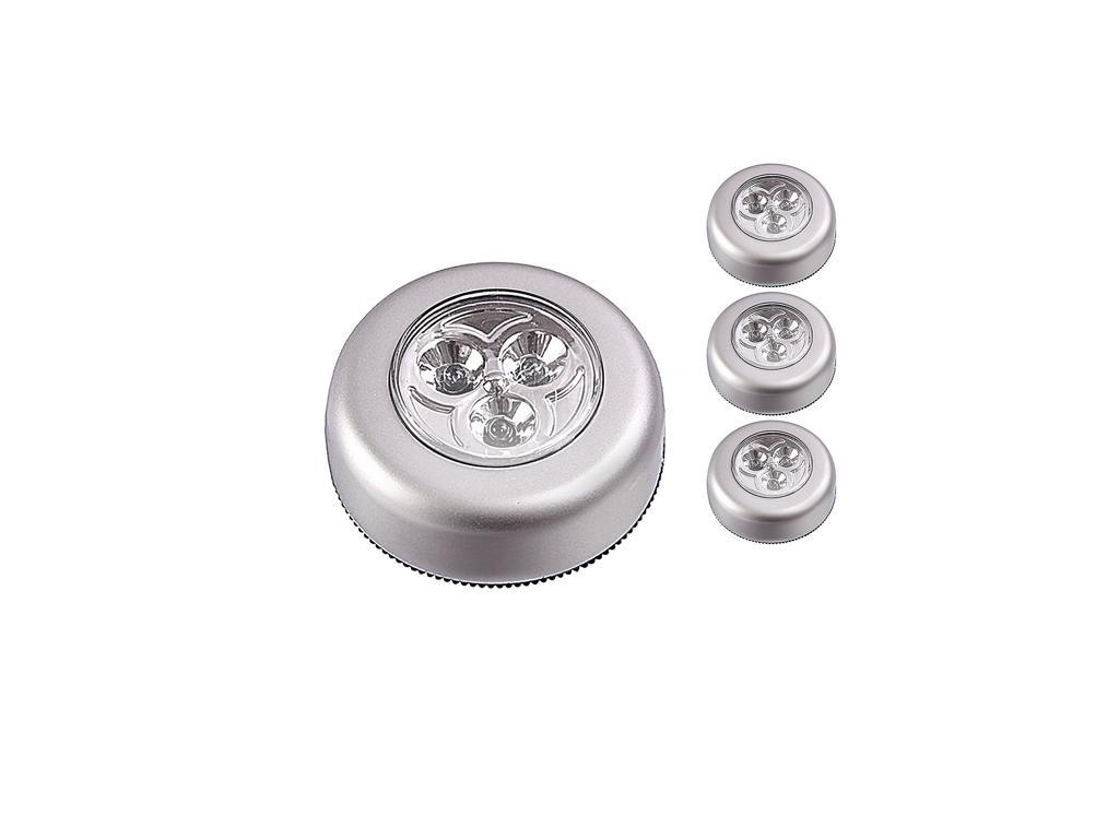Dunlop Σετ 3 τεμ. Ασύρματα Σποτ-Φωτάκια με 3 LED σε Λευκό χρώμα, 04016 - Dunlop διακόσμηση και φωτισμός   led φωτισμός