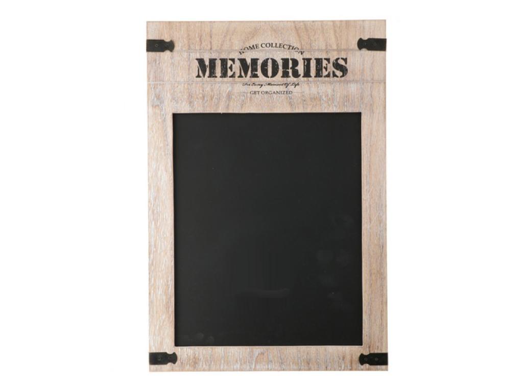 Arti Casa Κρεμαστός Ξύλινος Μαυροπίνακας Κιμωλίας για σημειώσεις Memories 50x34x διακόσμηση και φωτισμός   πινακίδες  καμβάδες και αφίσες
