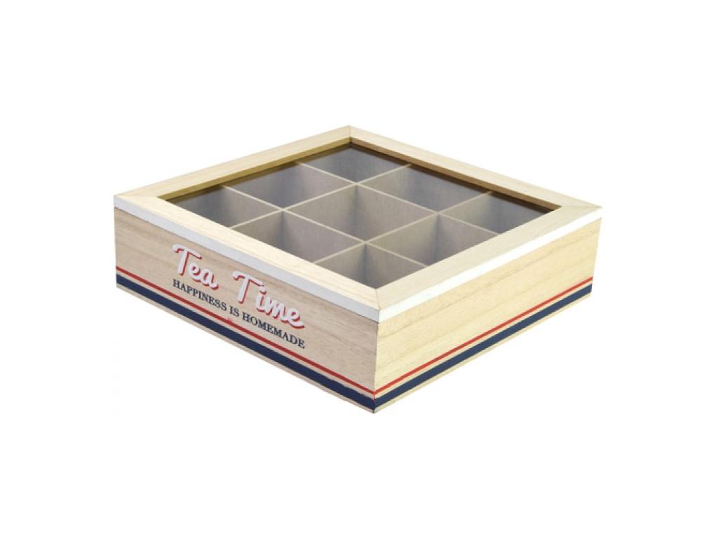 Arti Casa Ξύλινο Πρακτικό Trendy Κουτί αποθήκευσης για φακελάκια τσαγιού Tea box κουζίνα   κουτιά κουζίνας και ψωμιέρες
