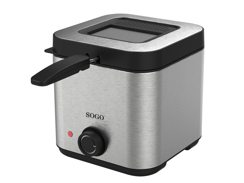 Sogo Φριτέζα 1.5Lt από Ανοξείδωτο ατσάλι με αντικολλητική επίστρωση 900W, FRE-SS ηλεκτρικές οικιακές συσκευές   φριτέζες
