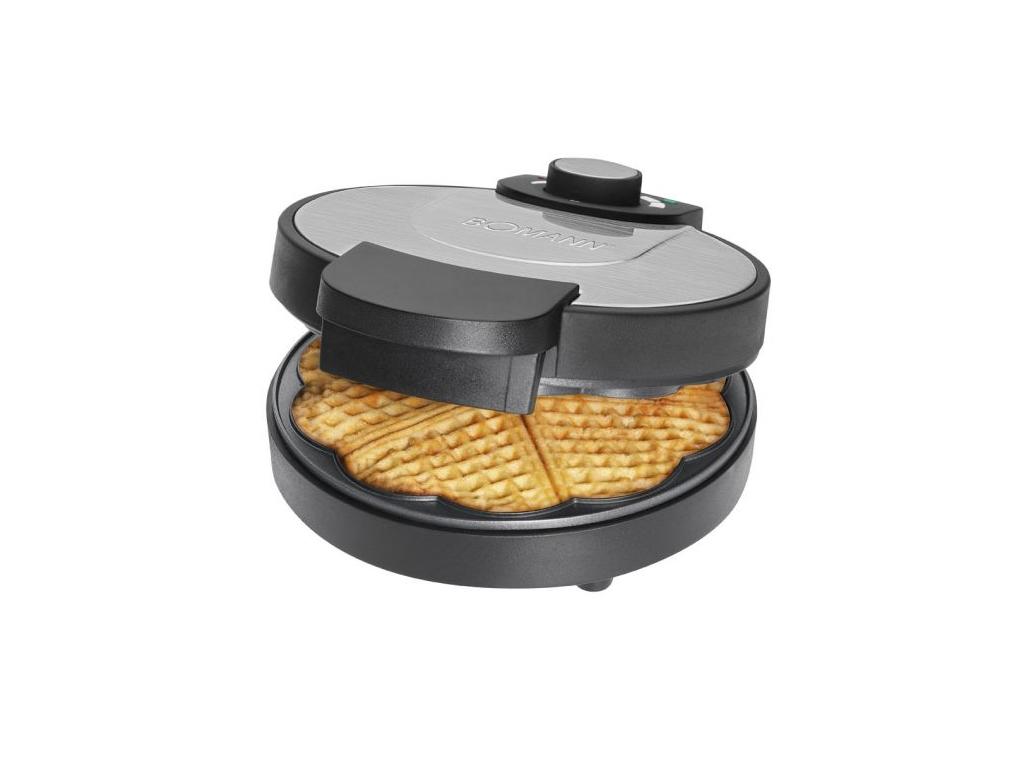 Bomann Waffle Maker Συσκευή παρασκευής Βάφλας Βαφλιέρα 1200W με Αντικολλητικές Π ηλεκτρικές οικιακές συσκευές   παρασκευαστές βάφλας