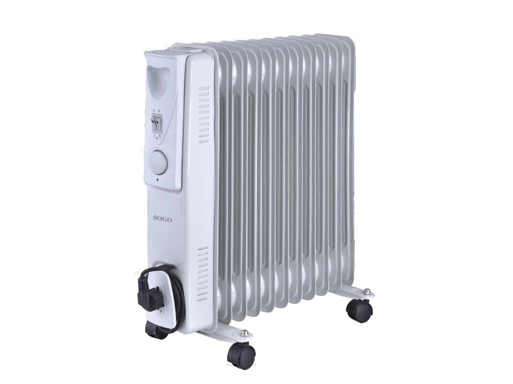 Sogo Ηλεκτρικό Φορητό Καλοριφέρ Λαδιού Θερμαντικό Σώμα με Μέγιστη Ισχύ 2500W, 3  θέρμανση και κλιματισμός   θέρμανση