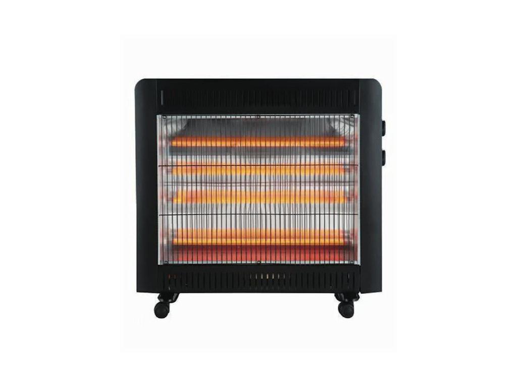 MD Ηλεκτρική Σόμπα Χαλαζία Θερμαντικό Σώμα Quartz 2200W σε Μαύρο χρώμα, MHT-6603 θέρμανση και κλιματισμός   θέρμανση