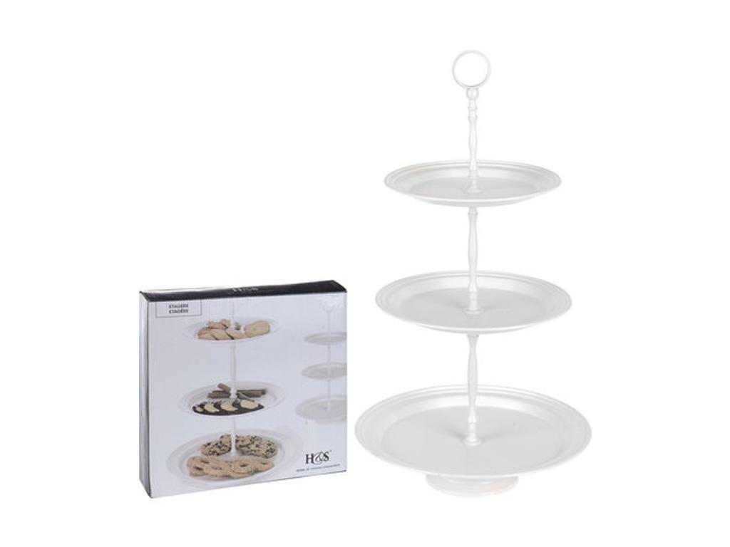 Γυάλινη Τριώροφη Πιατέλα Σερβιρίσματος Εταζέρα με 3 στρογγυλά επίπεδο, Home Styl σερβίρισμα   δίσκοι  πιατέλες και ορντεβιέρες