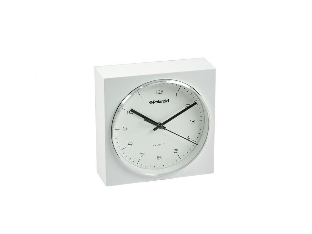 Polaroid Επιτραπέζιο Αναλογικό Ρολόι 16.5x6.5x16.5cm, 87159 Λευκό-Ασημί - Polaroid