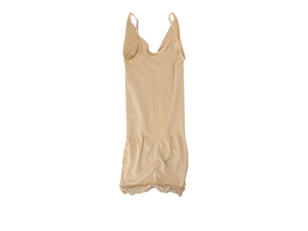 Γυναικείο Φόρεμα - Κορσές Αδυνατίσματος Για Τέλειο Σχήμα και όψη σε Μπεζ Χρώμα,  γυναικεία ένδυση   γυναικεία φορέματα