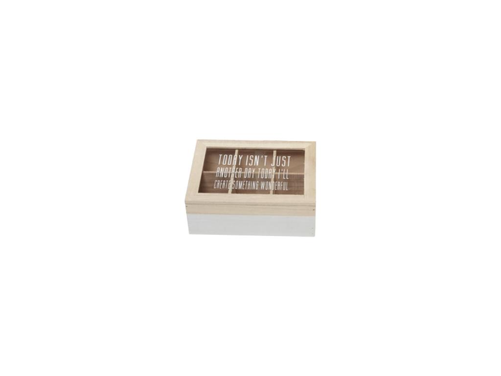 Ξύλινο Trendy Πρακτικό Κουτί αποθήκευσης για φακελάκια τσαγιού / καφέ Tea box με κουζίνα   κουτιά κουζίνας και ψωμιέρες