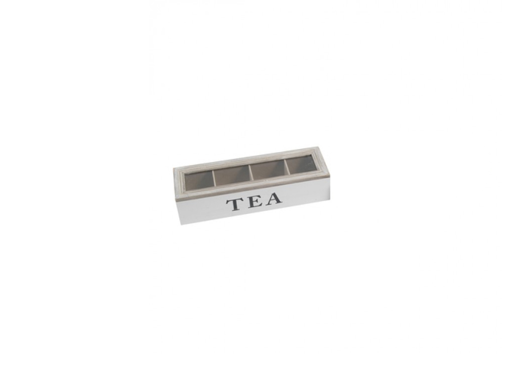 Ξύλινο Vintage Πρακτικό Κουτί αποθήκευσης για φακελάκια τσαγιού Tea box με 4 θέσ κουζίνα   κουτιά κουζίνας και ψωμιέρες
