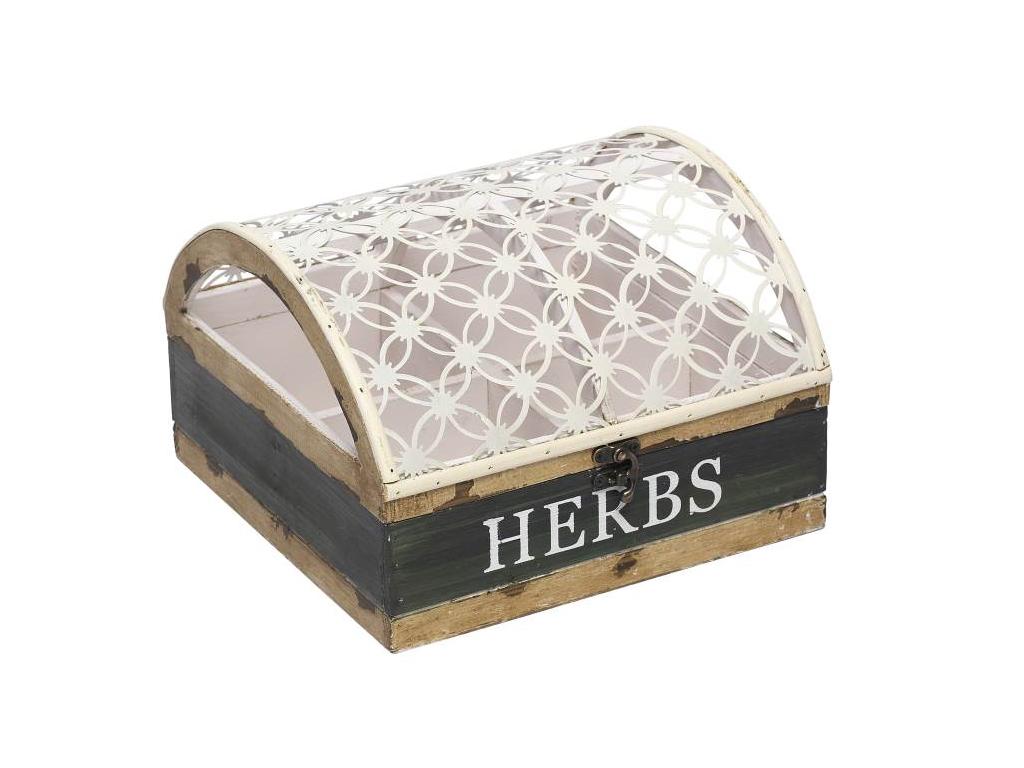 Ξύλινο Vintage Πρακτικό Κουτί Αποθήκευσης - Γλαστρα 25x25x17cm για Φρέσκα Μπαχαρ αξεσουάρ και εργαλεία κουζίνας   βαζάκια και θήκες μπαχαρικών