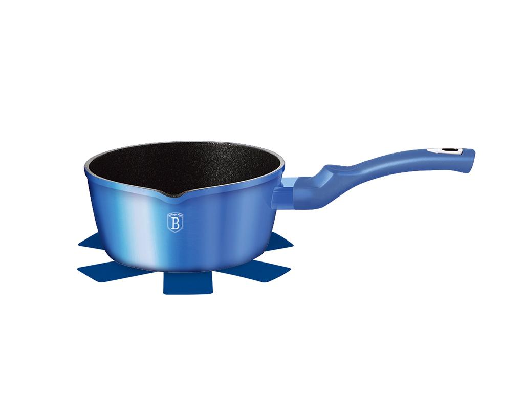 Berlinger Haus Αντικολλητικό Κατσαρολάκι 16cm με Τριπλή Μαρμάρινη Επίστρωση και πάτο Turbo Induction, Metallic Line Royal Blue Edition, BH-1650N – Berlinger Haus