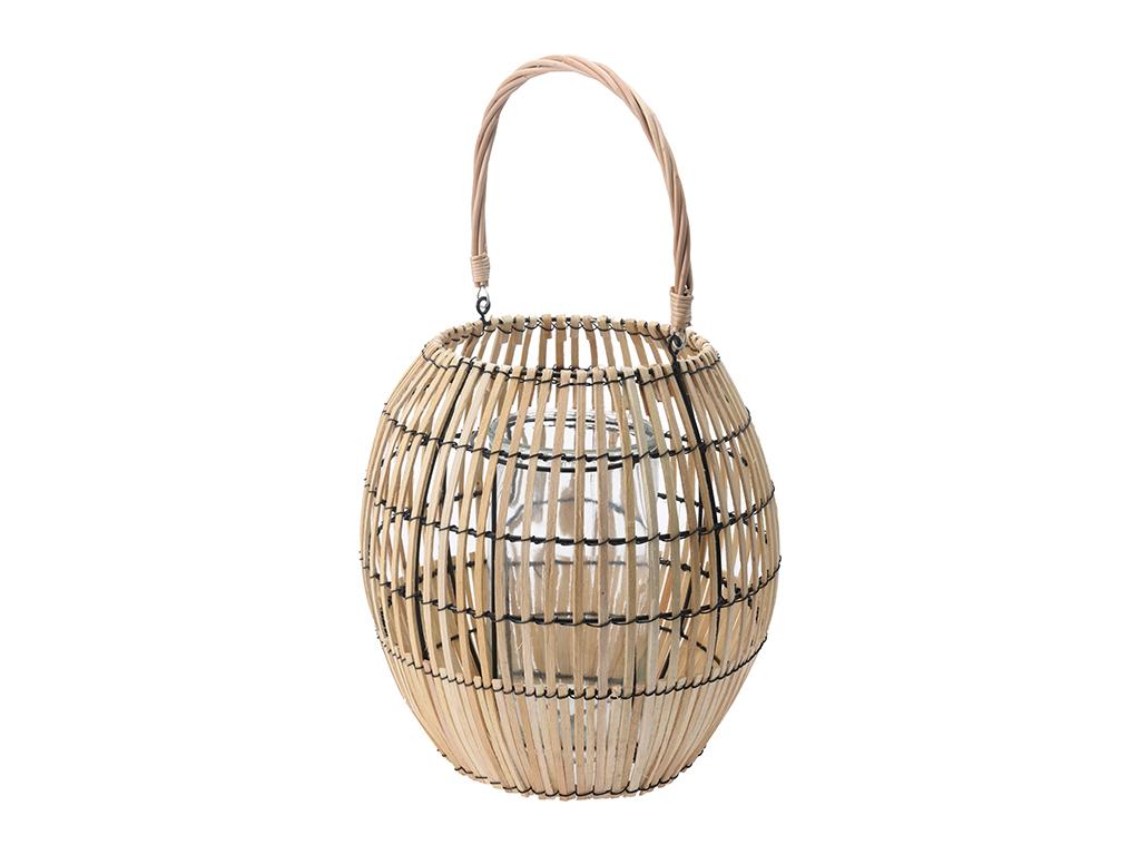 Elzet Gifts & Living Ξύλινο Διακοσμητικό Φανάρι Φωτιστικό Εσωτερικού και Εξωτερι διακόσμηση και φωτισμός   λάμπες και φανάρια