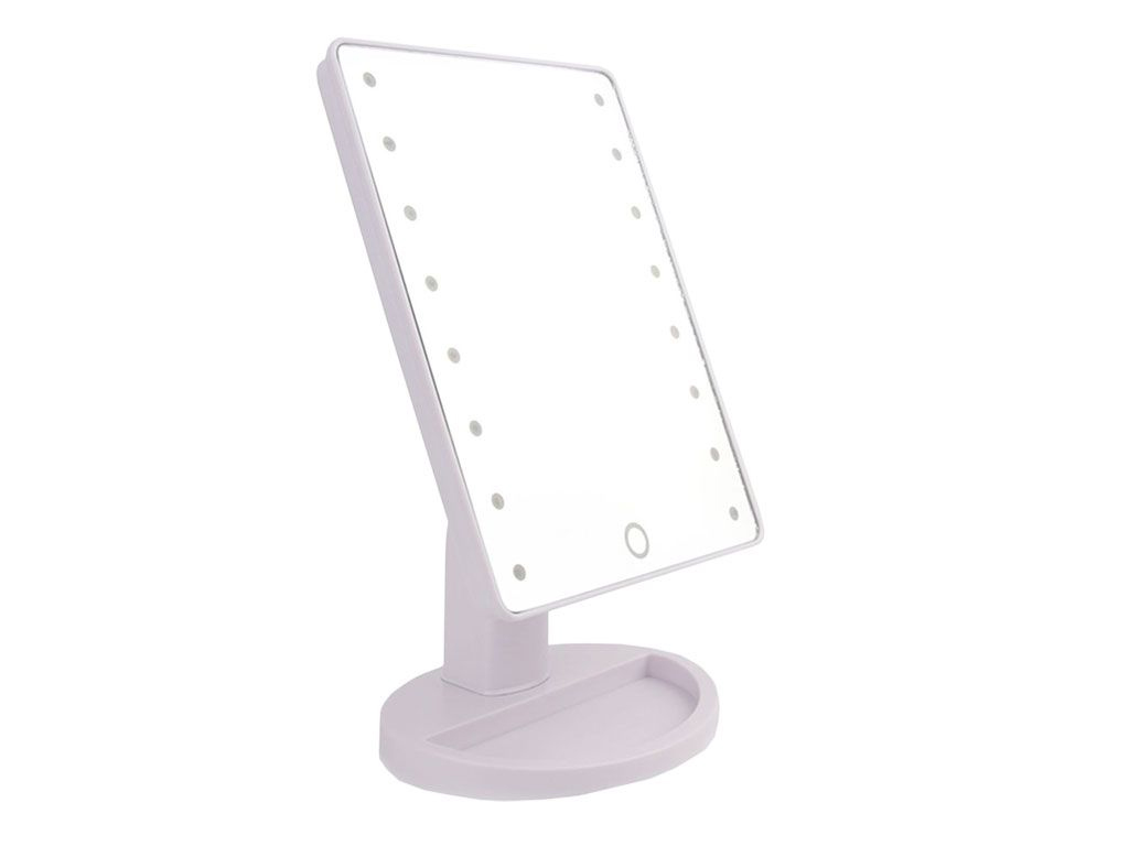 Περιστρεφόμενος καθρέπτης μακιγιάζ με 16 LEDs και μπαταρίες - Cb υγεία  και  ομορφιά   μεγεθυντικοί καθρέπτες