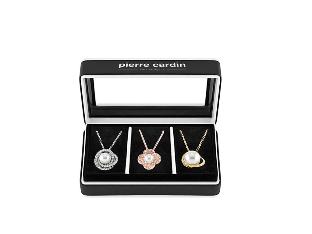 Pierre Cardin Gift Set PXX0205 Σετ συλλογή Κοσμημάτων από κράμα χρυσού με 3 Κολι γυναικεία αξεσουάρ και κοσμήματα   σετ κοσμημάτων