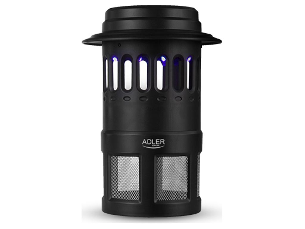 Adler Ηλεκτρικός Λαμπτήρας Εξολοθρευτής Κουνουπιών και Εντόμων 4W σε μαύρο χρώμα κήπος και βεράντα   εντομοαπωθητικά