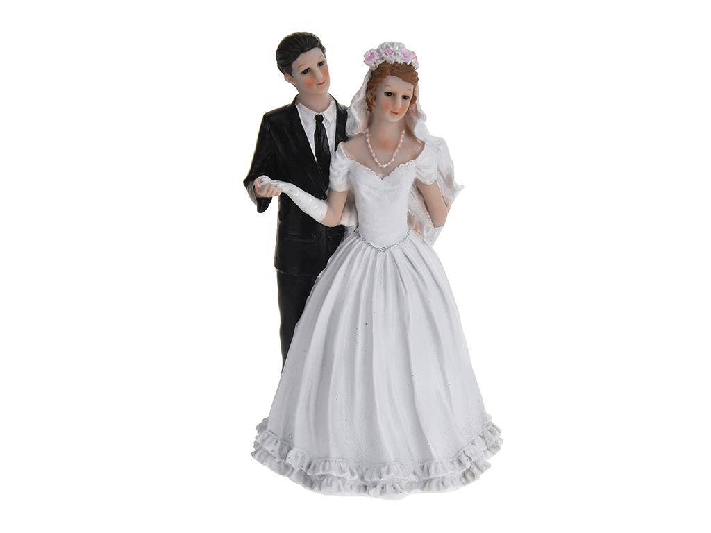 Διακοσμητικό γαμήλιας τούρτας 29cm με νύφη και γαμπρό Wedding deco - Cb