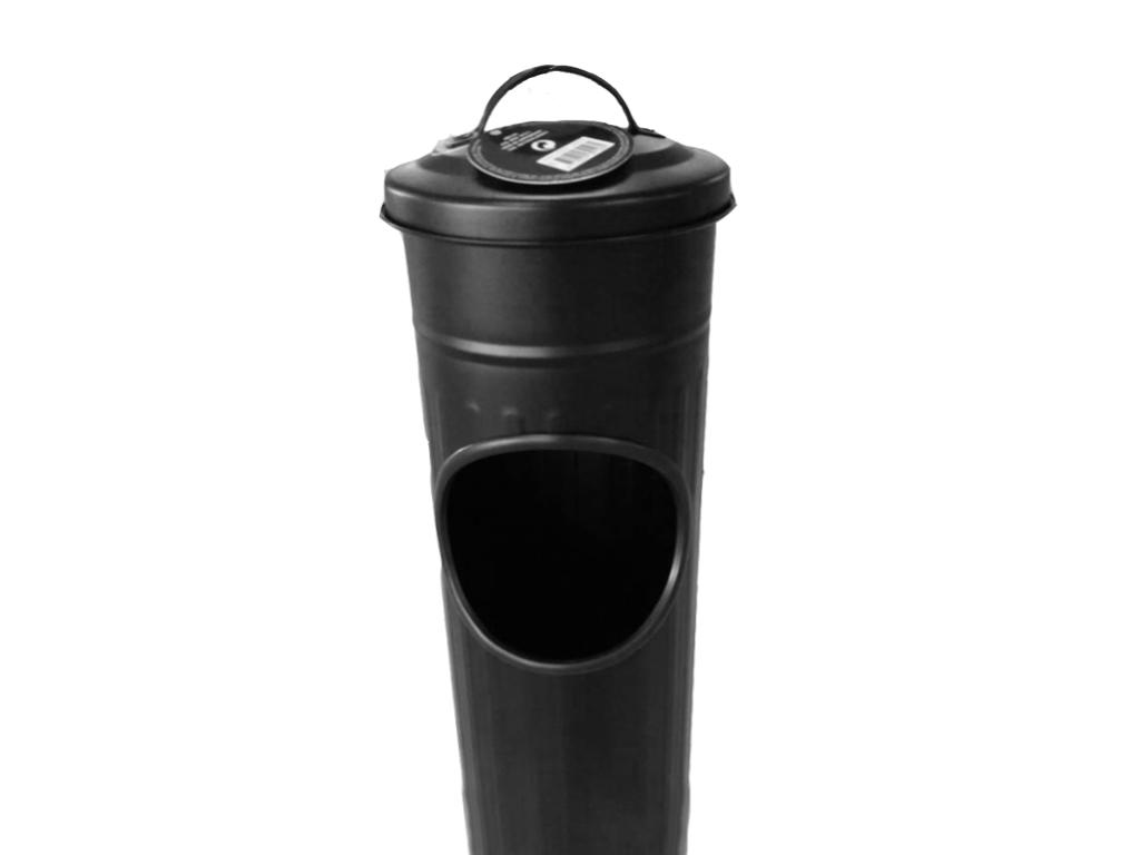 Σταχτοδοχείο Δαπέδου 56.5cm Τασάκι Δαπέδου INOX με υποδοχή για απορρίμματα,C80820500 Μαύρο - Cb