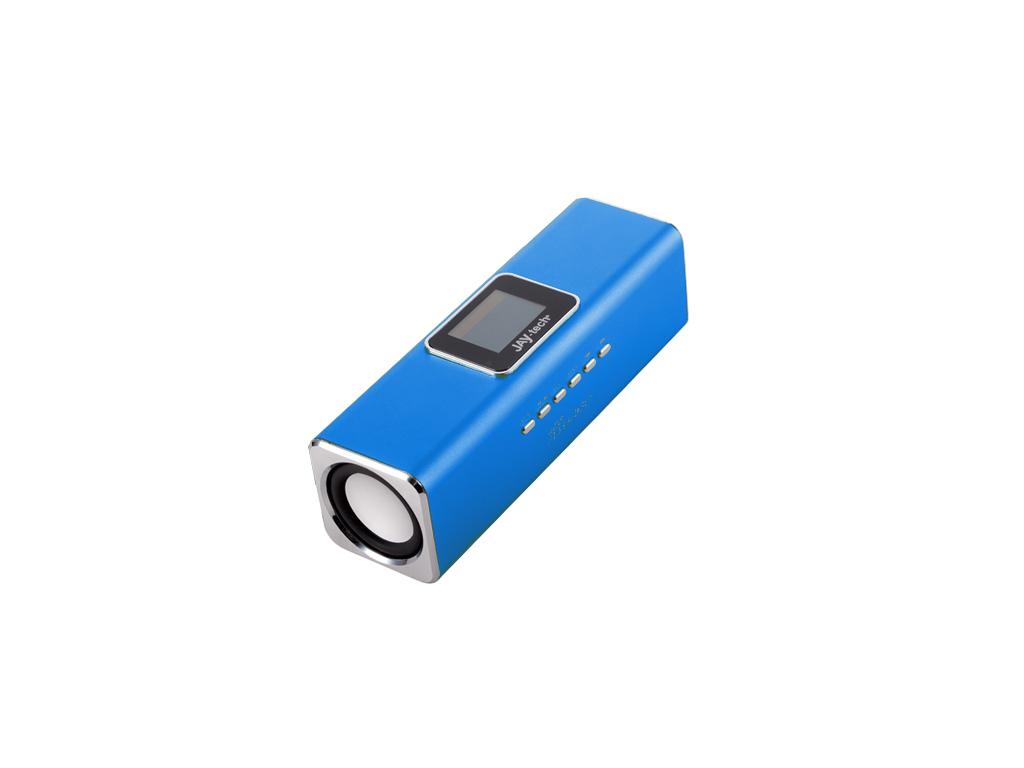 Technaxx MusicMan Φορητά ηχεία με οθόνη LED MP3 player και ραδιόφωνο FM σε Μπλε  ήχος   bluetooth και μικρά ηχεία