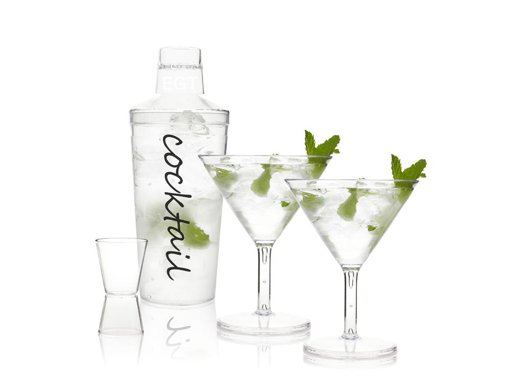Cocktail Shaker Σετ Κοκτέιλ για Camping 4 τεμ. 12x8cm σε διάφανο χρώμα, 17042197 αναψυχή και ψυχαγωγία   κάμπινγκ και βουνό