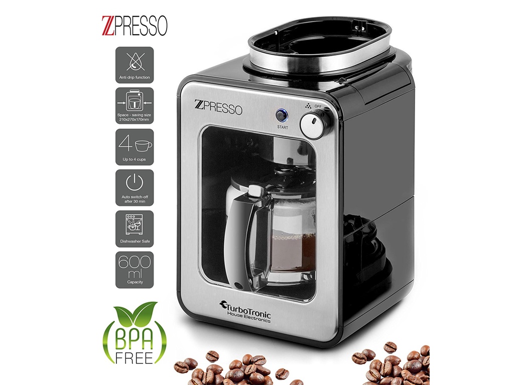 turbotronic coffee maker 600w 06l zpresso ttcm7