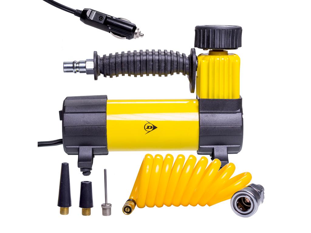 Dunlop Ηλεκτρικό Κομπρεσέρ Αέρα Τρόμπα Αυτοκινήτου, ποδηλάτου 96W 100psi 12V με  αξεσουάρ αυτοκινήτου   επισκευή   συντήρηση   φορτιστές