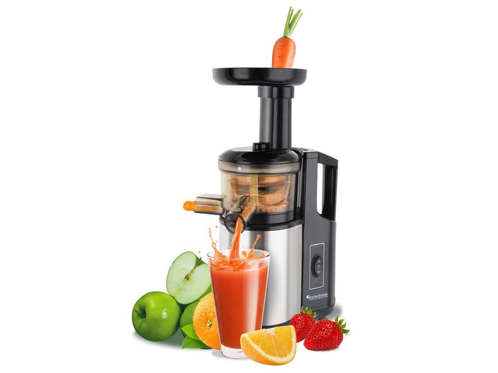 TurboTronic Slow Juicer Αποχυμωτής - Πρέσα Φρούτων & Λαχανικών 150W με αργή ταχύ ηλεκτρικές οικιακές συσκευές   αποχυμωτές αργής περιστροφής