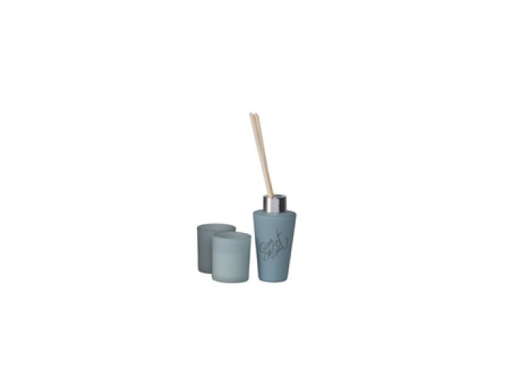 Fumare Σετ 2 Αρωματικά Κεριά 100ml 5x5x6cm και 3 Στικ, 99990 Πετρόλ - Fumare διακόσμηση και φωτισμός   αρωματικά χώρου